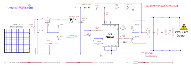 Solar Inverter Circuit Diagram
