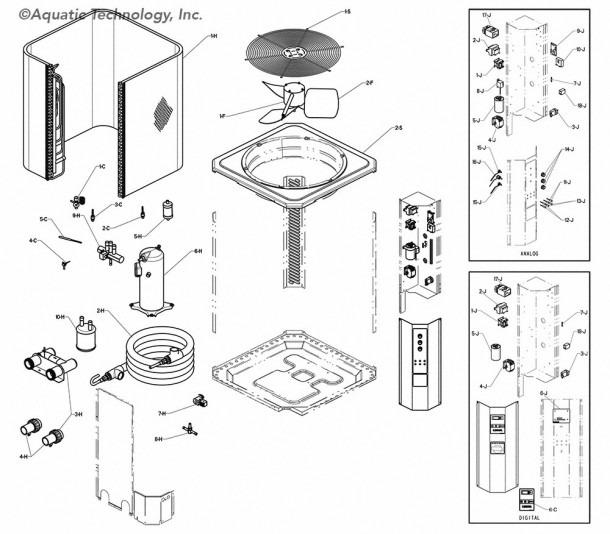 Raypak Rhp 6300 Heat Pump Pool Heater Parts