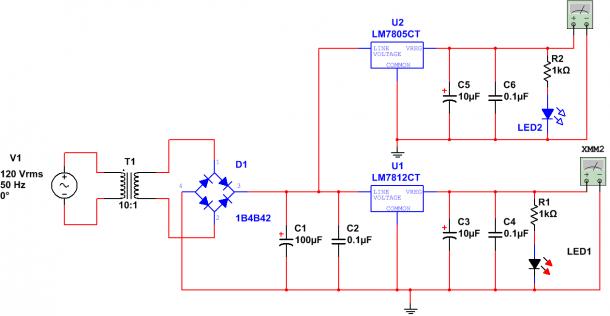 Circuit Diagram Of 7812 Voltage Regulator