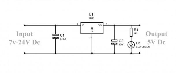 How To Convert 9v To 5v Regulator Circuit