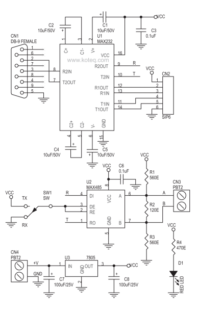 Rs485 To Rs232 Schematic