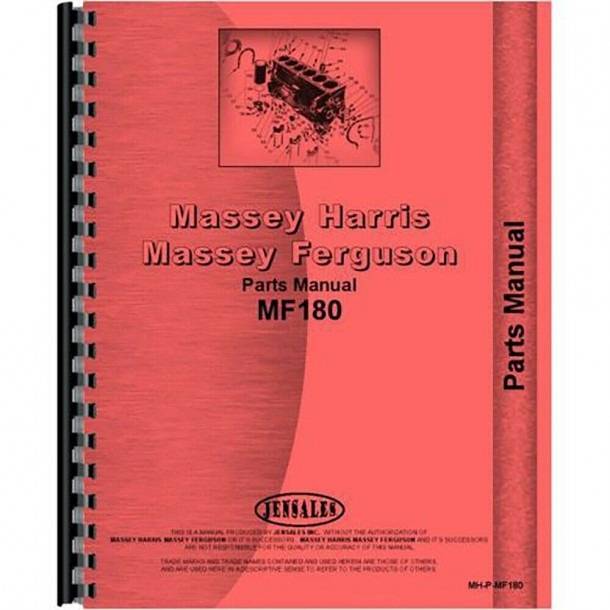 New Massey Ferguson 180 Tractor Parts Manual