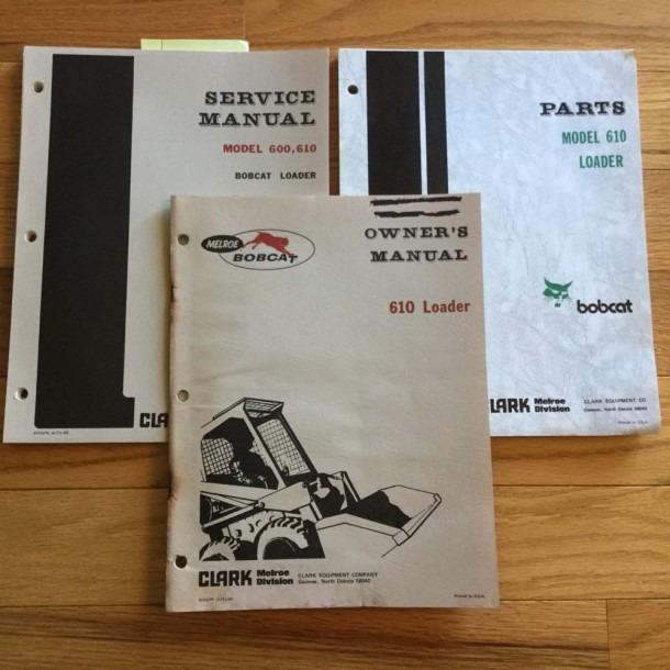 Bobcat 610 Service Shop Repair Manual Parts Catalog, Operation