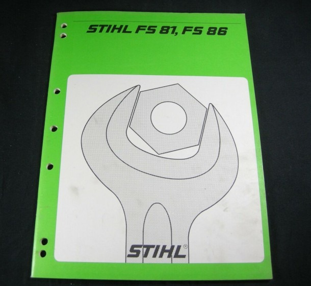 Stihl Fs81 Fs86 Trimmer Brush Cutter Shop Service Repair Manual