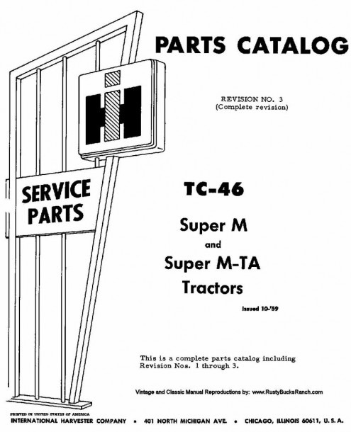 Farmall Models Super M And Super Mta Mv Md Mdv Parts