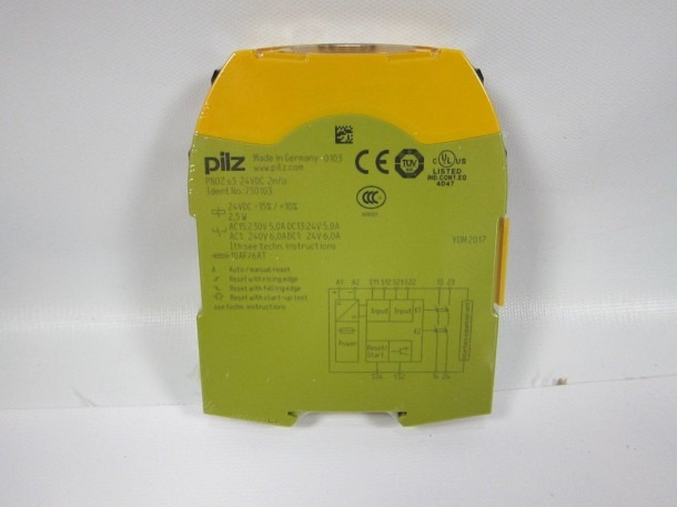 Pilz 750103 Safety Relay Pnoz S3 24 Vdc For Sale Online