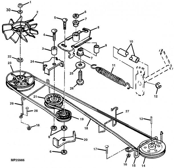 Scotts S2554 Lawn Mower Parts Diagram