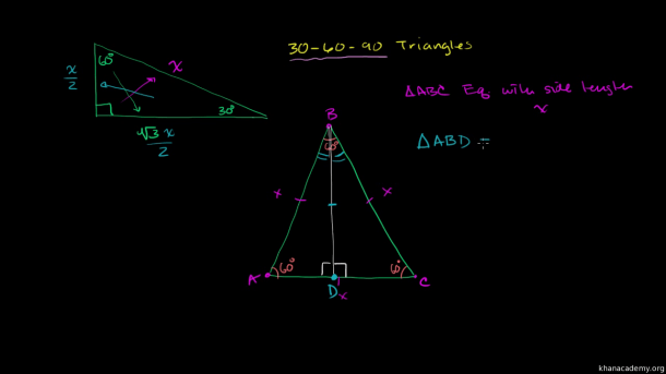Special Right Triangles Proof (part 1) (video)
