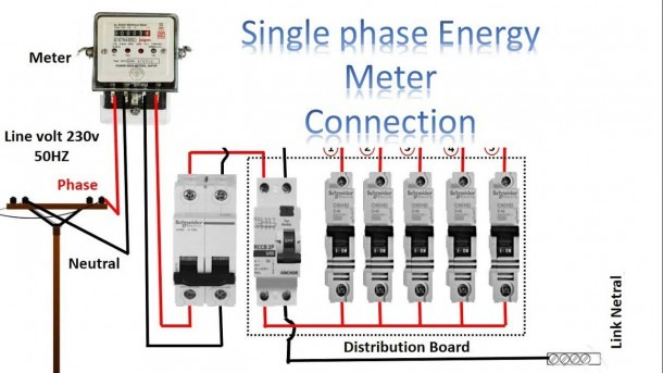 Single Phase Meter Wiring Diagram