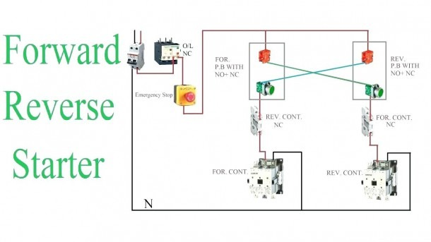 Single Phase Reversing Contactor Diagram