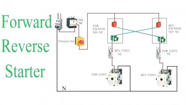 Single Phase Reversing Contactor Diagram