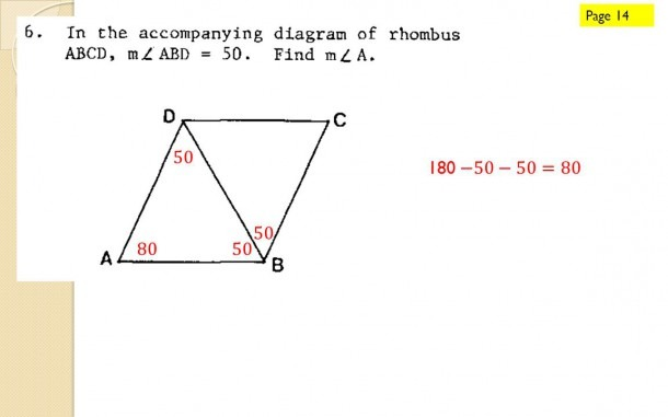 Rhombus  Properties Of A Rhombus  A B C D All Properties Of A