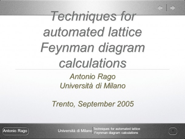 Antonio Ragouniversità Di Milano Techniques For Automated Lattice