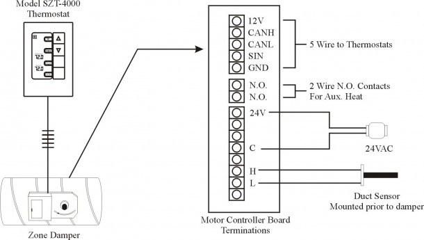 Typical Duct Smoke Detector Wiring Diagram