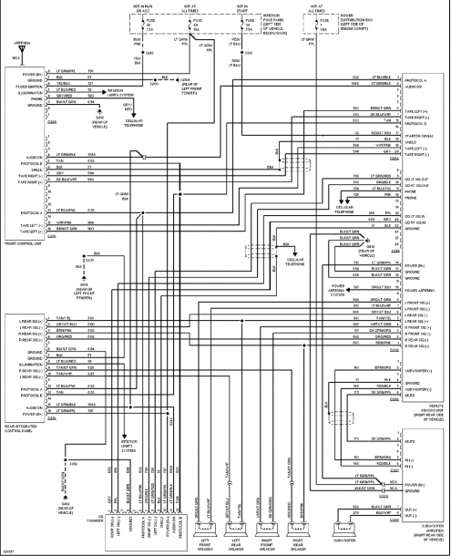 Radio Wiring Diagram For Ford Ranger on starter relay, headlight switch, starter solenoid, trail r, light switch, for alternator 97,