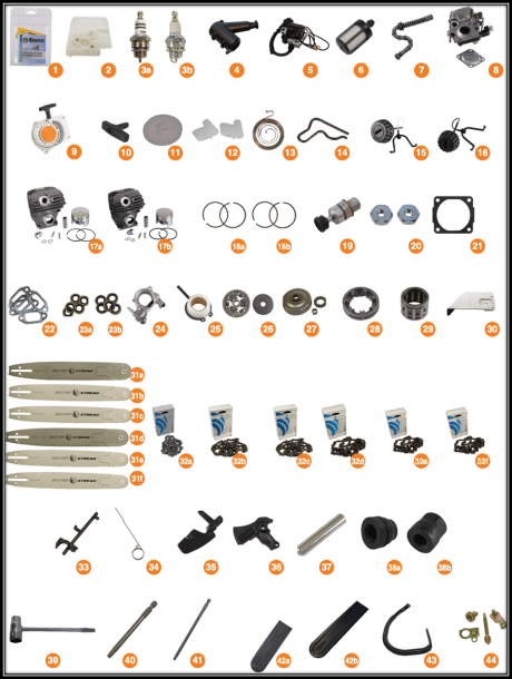 Replacement Parts For Stihl 024, Stihl 026, Stihl Ms240 And Stihl
