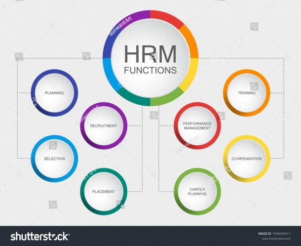 Vector Slide Template Circle Diagram Human Stock Vector (royalty