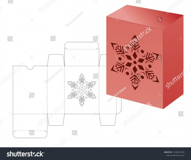 Vector Winter Christmas New Yaer Gift Stock Vector (royalty Free
