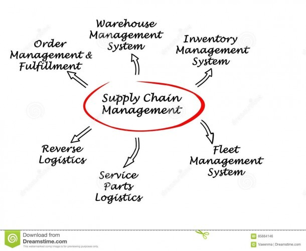 Supply Chain Management Stock Photo  Image Of Part, Diagram