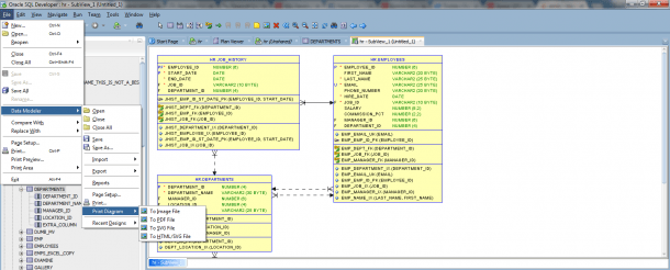 How To Export Erd Diagram To Image In Oracle Data Modeler Sql