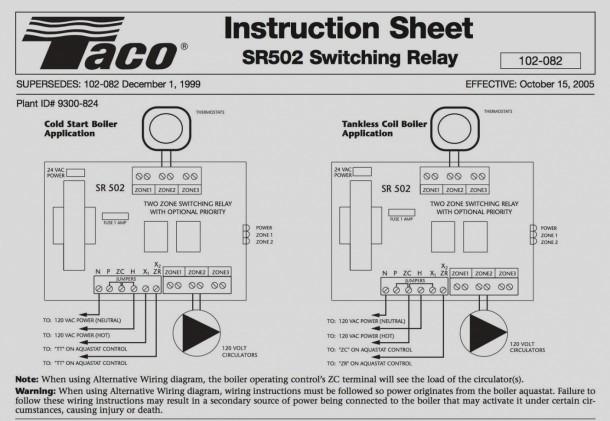 Taco 00 Circulator Wiring