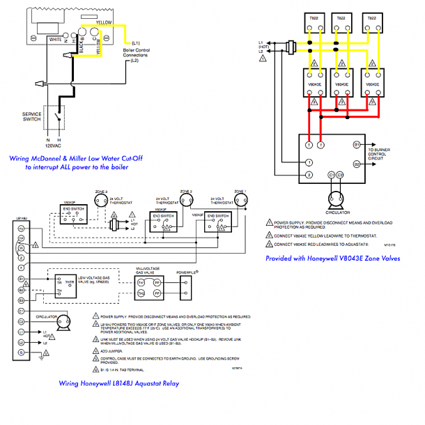 Honeywell V8043f Wiring Diagram