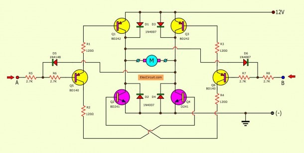 How To Rotate Dc Motor In Both Direction