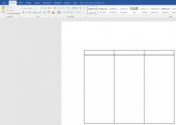 How To Create A Swimlane Diagram In Word