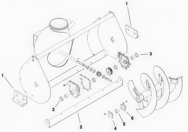 Toro Dingo Snowthrower Attachment And Hydraulic Broom Attachment Parts