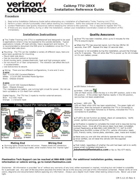 Calamp G1000 Wiring Diagram
