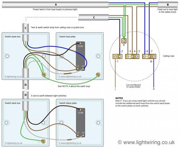 2 Way Light Switch Diagram