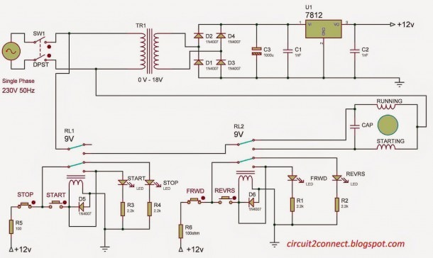 Single Phase Induction Motor Direction Control (v1)