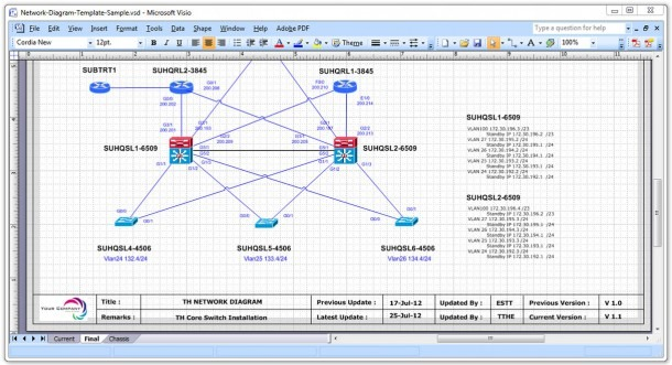29 Images Of Template Network Diagram In Excel