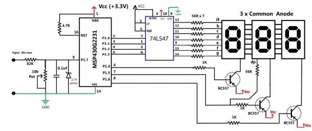Led Wiring Diagram Of Voltmeter