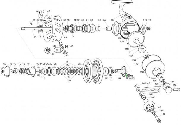 Reel Parts Diagram