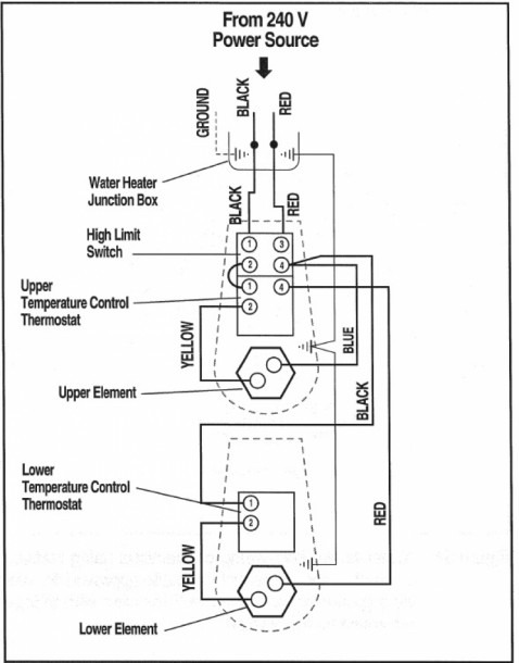Wiring Diagram For Water Heater Thermostat