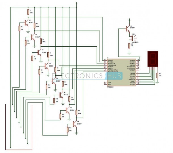 Water Level Indicator Project Circuit Working Using Avr