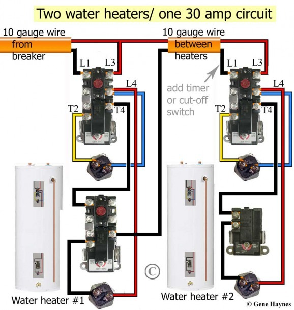Wiring Diagram For Electric Water Heater Thermostat