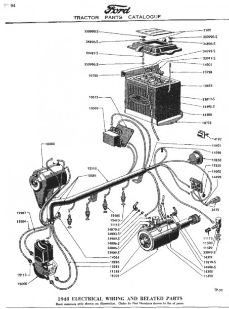 Wiring Diagram For 8n Ford Tractor 6 Volt Readingrat Net Simple