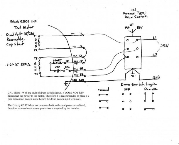 Drum Switch Wiring Diagram