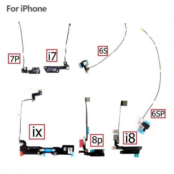 Wifi Antenna Signal Flex Cable Ribbon Wire For Iphone 6s 6s+ 7 8