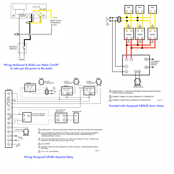 Honeywell Zone Valve Wiring Diagram on