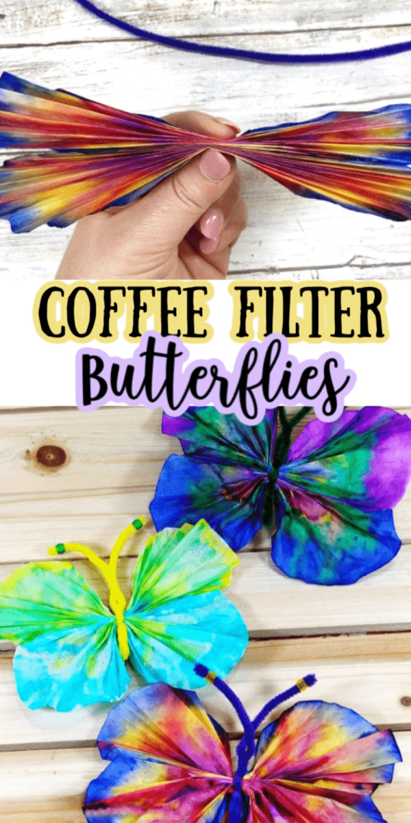 How to Make Coffee Filter Butterflies -