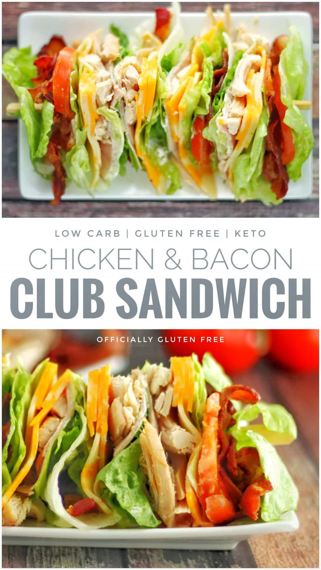 Low Carb Chicken Club Sandwich | Keto Clubhouse Lettuce Wrap