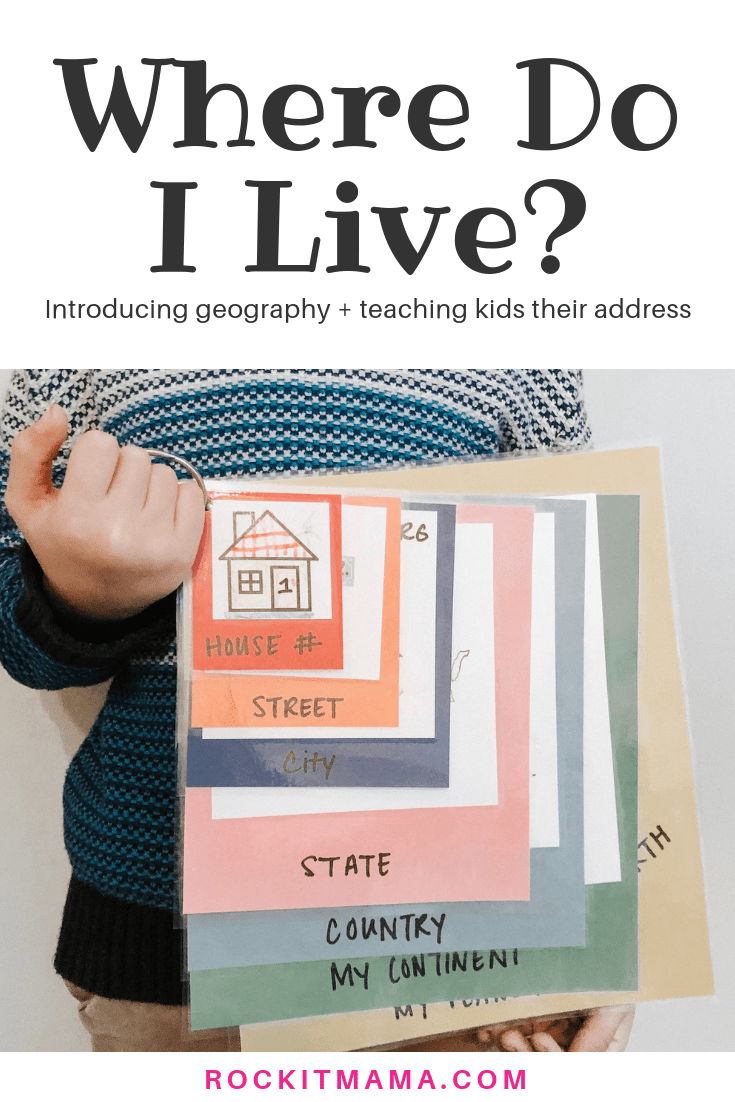Where Do I Live? Kid Activity - Introducing Geography and