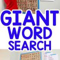 Giant Word Search Activity for Kids – Busy Toddler