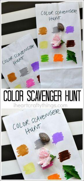 Simple Color Scavenger Hunt for Kids