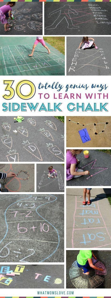 101 Genius Sidewalk Chalk Ideas To Crush Summertime Boredom – what moms love