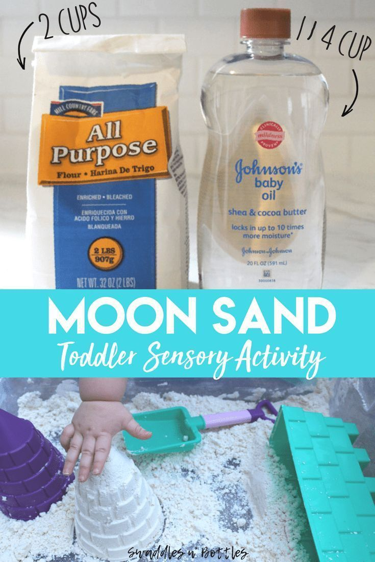 2 Ingredient Moon Sand Recipe - Little Learning Club