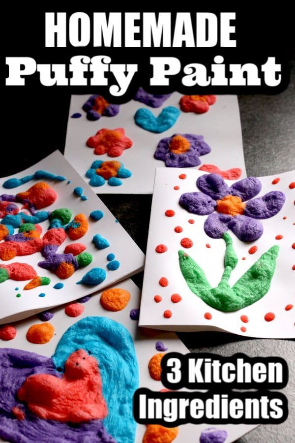 3-Ingredient Puffy Paint Recipe